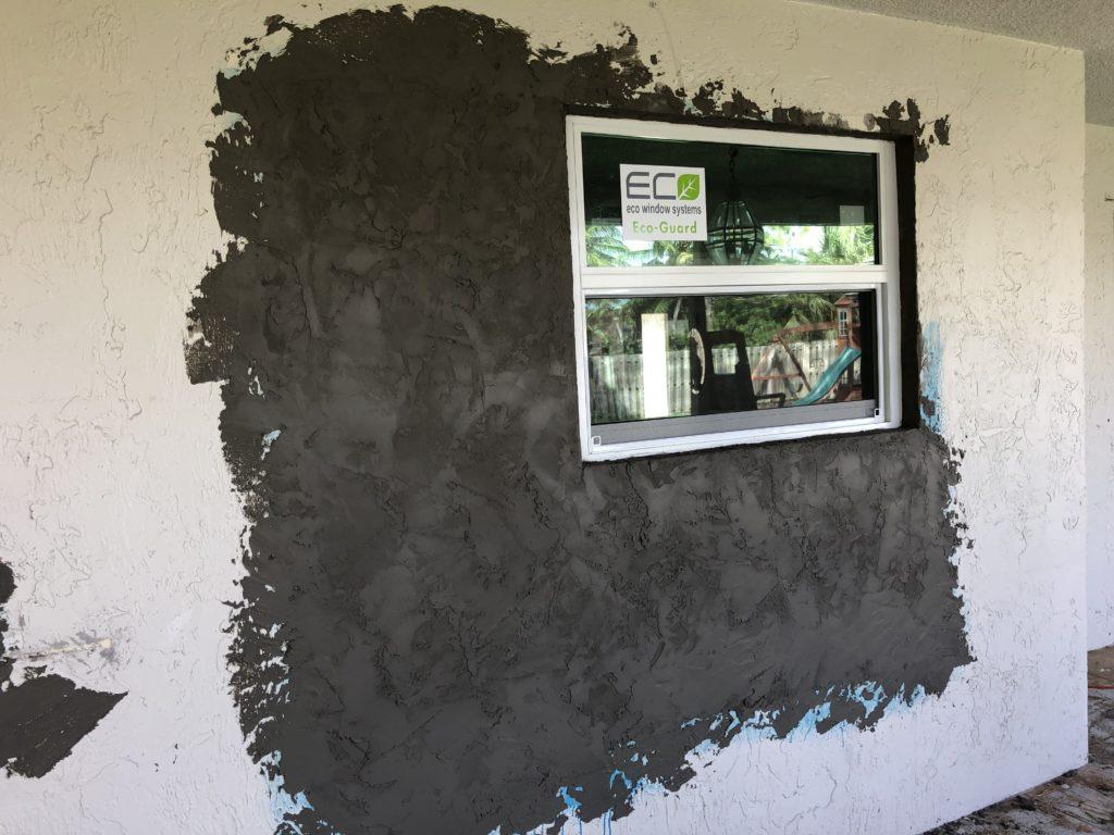 Stucco Repair on Window