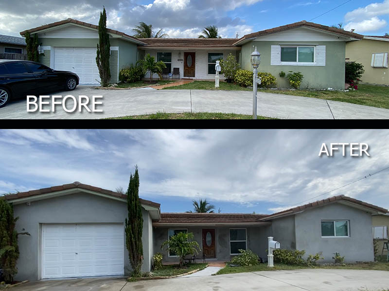 Stucco Exterior- From Old to New